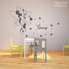 Small Picture Aliexpresscom Buy Mini Mouse Name Wall Sticker DIY Baby Nursery