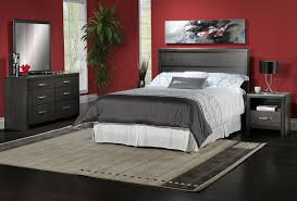Queen Furniture Bedroom Set Dessy 4 Piece Queen Bedroom Set Charcoal Leons