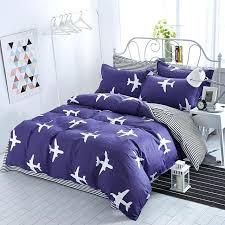 boys airplane bedding sets north aircraft cartoon queen size bedding set for kids boys soft plaid boys airplane bedding