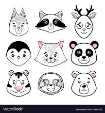 cute animals clipart black and white. Contemporary White For Cute Animals Clipart Black And White
