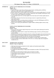 Gallery Of Performance Resume Template