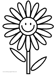 Coloring Pages For Kids Flowers Coloring Pages Color Plate