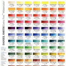 Daniel Smith Color Chart Esperoart Com