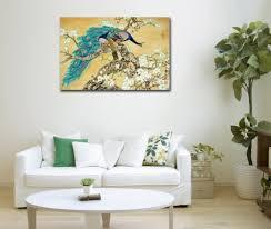 Peacock Living Room Decor Online Get Cheap Chinese Peacock Canvas Art Aliexpresscom