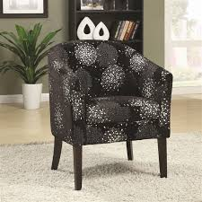 accent chair in black and silver chenille by coaster 902093