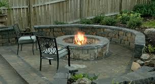 diy outdoor fireplace round