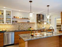 White Contemporary Kitchen With Open Shelving Kitchens Without Upper Cabinets Kitchen Layout White Contemporary Kitchen