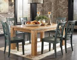 Image Modern Rustic Kitchen Table 9 Piece Dining Room Set Wood