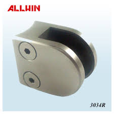 stainless steel 180 degree railing to post connector glass clamp