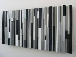 modern black white. beautiful black custom made modern wood wall art sculpture black white greys silver for l