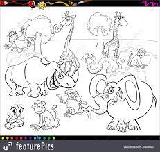 Safari Animals Template Illustration Of Safari Animals Coloring Book