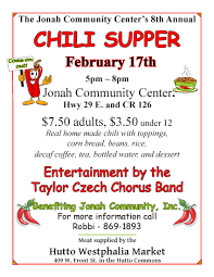 chili supper flyer restaurants retail service news hutto business update