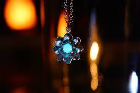 lotus flower pendant glow in the dark lotus flower necklace silver lotus rose gold lotus