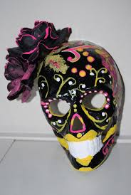 Decorating A Mask Día De Los MuertosDay Of The Dead Mask A Mask Decorating on 13