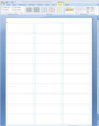Word 2013 Label Template Showing Gridlines In A Ms Word Label Template Free
