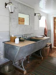 old barn wood bathroom vanity brown finish stained wooden frame gl mirror carmine transpa double sink