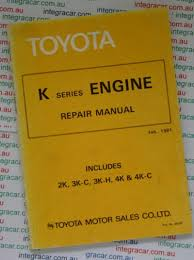 Toyota K series Engine repair manual - workshop car manuals,repair ...