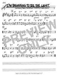 In The Light Sheet Music Im Beginning To See The Light By Duke Ellington Real Book Melody Chords Bb Instruments Digital Sheet Music