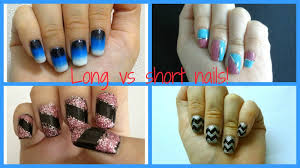 Different types of nail designs for long and short nails! - YouTube