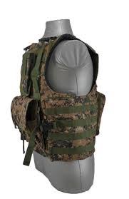carrier vest. bearcat molle plate carrier vest \u2013 digital woodland