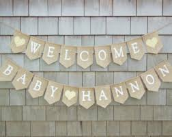 Harry Potter Inspired Baby Shower Decor Welcome LittleBaby Shower Burlap Banner