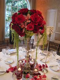 Bernardo's Flowers Inc.: Wedding Centerpiece Ideas (Red, Hot Pink & Ivory)  with tendrils