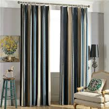 New Arrival Chenille Multi-color Striped Curtains