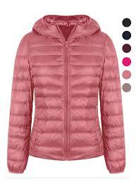 Light Pink Down Jacket Zity Lightweight Down Jacket Ultra Light Weight Packable Down Jacket Pink M