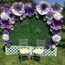 Giant Paper Flower Backdrop Large Paper Flowers Backdrop For Bride To Be At Bridal Shower That