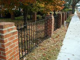 wrought iron fence brick. Brick And Iron Fence Designs | Wrought Installation Manual Depot W