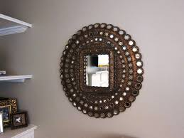 innovative small decorative wall mirror with brushed nickel wall mirror frame and large wall decor for decorative interior stone walls
