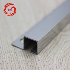 home decoration chrome effect tile trim profiles stainless steel tile edge trim