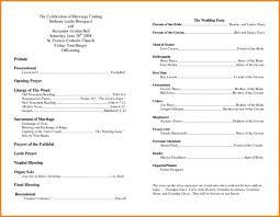 012 Template Ideas Free Printable Wedding Program Templates