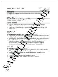 Simple Job Resume Samples Simple Example Job Resume Effortless
