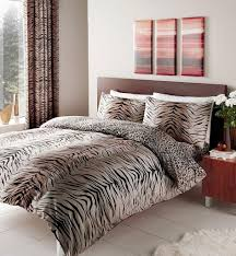 brown double size animal print duvet cover set by homemaker bedding co uk kitchen home