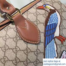 gucci 409527. gucci top handle medium boston bag 409527 exclusive embroidered bird flower 2016
