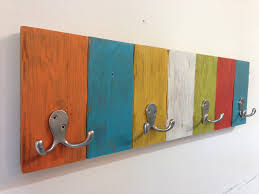 Rustic Coat Rack With Shelf colorful coat rack cool colorful coat hooks wall mounted idea 89
