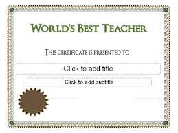 Best Teacher Certificate Templates Free Worlds Best Teacher Award Certificate Gift Ideas School