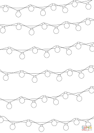 Christmas Lights Pattern Coloring Page Free Printable Coloring Pages