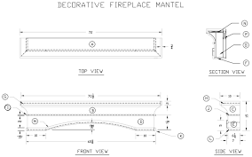 how to build decorative fireplace mantel woodworking drawing