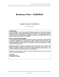 example of a business plan business plan sample great example for anyone writing a business pl