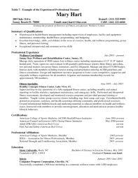 Exercise Science Resume Objective Experienced Professional Resume