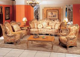 Classical living room furniture Luxurious Interior Classic Living Space Using Traditional Sofa Set Also Iron Mini Chandelier Over Rectangle Wooden Coffee Table Enddir Traditional Sofa Design Bringing Classical Vibe In Living Room