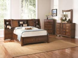 Medium Oak Bedroom Furniture Medium Oak Finish Transitional Bedroom W Storage Bed Options