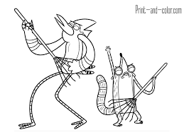 Regular Show Coloring Pages Print And Color Com