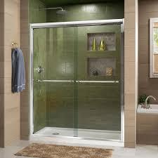 semi framed bypass sliding shower door in chrome shdr 1260728 01 the home depot