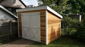 6x8 western red cedar storage sheds