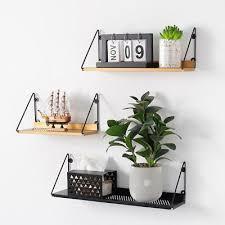 wall mounted hang rack metal wire shelf storage organizer holder home decor s l