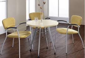 picture of global gc36cf 36 small round office table