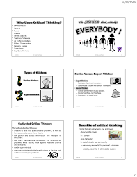 CRITICAL THINKING What  Why  and How    ppt video online download